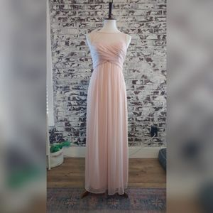 Beautiful floor length pink formal dress
